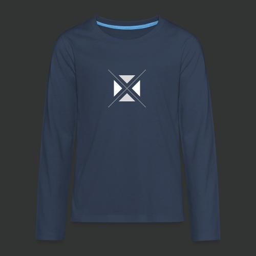 triangles-png - Teenagers' Premium Longsleeve Shirt