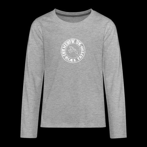 logo hvid png - Teenager premium T-shirt med lange ærmer