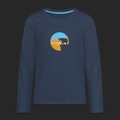 Sunset Elephant - Teenagers' Premium Longsleeve Shirt
