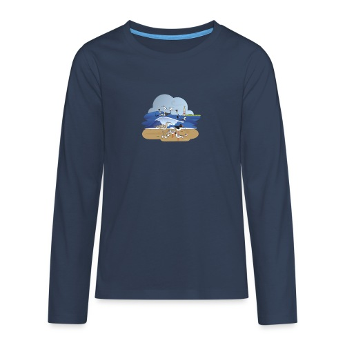 See... birds on the shore - Teenagers' Premium Longsleeve Shirt