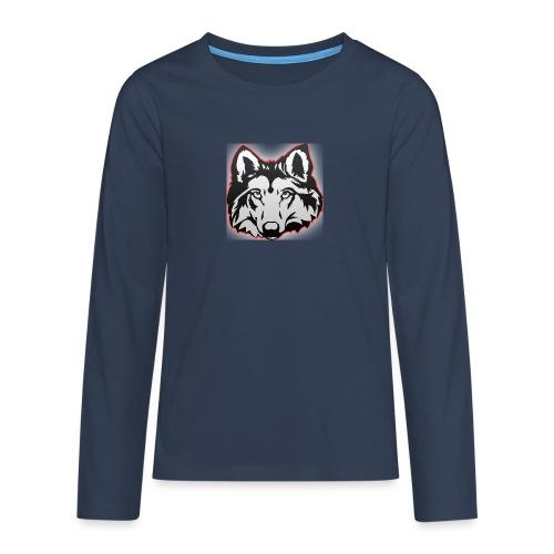 Wolfie (Red) - Teenagers' Premium Longsleeve Shirt