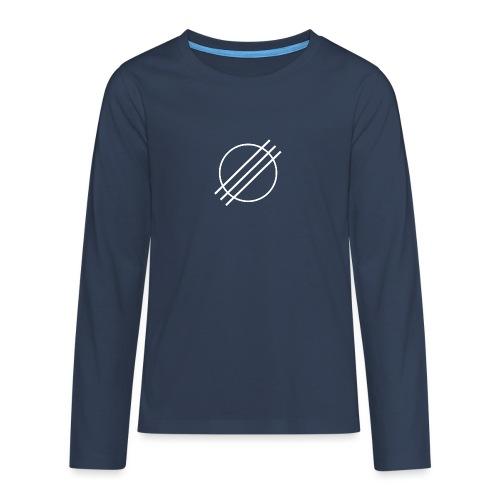 DJ Øyvind Offisiell Logo (hvit) - Premium langermet T-skjorte for tenåringer