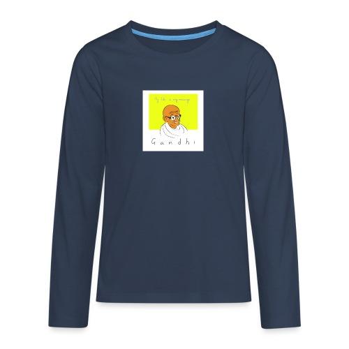 Gandhi - Teenager Premium Langarmshirt