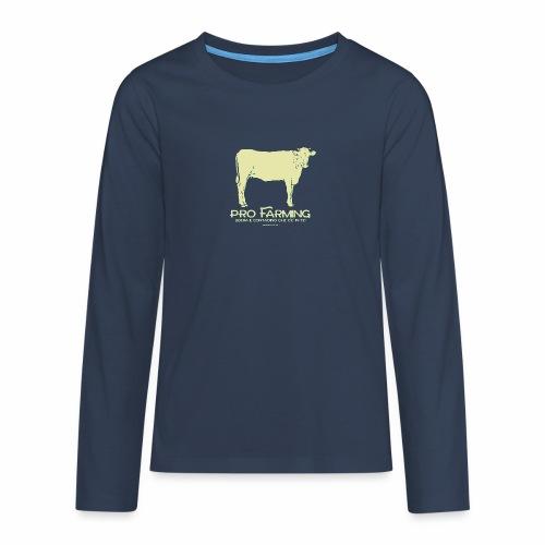 PRO Farming - Maglietta Premium a manica lunga per teenager
