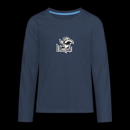 Delinquents TriColor - Teenager premium T-shirt med lange ærmer