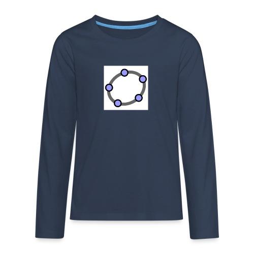 GeoGebra Ellipse - Teenagers' Premium Longsleeve Shirt