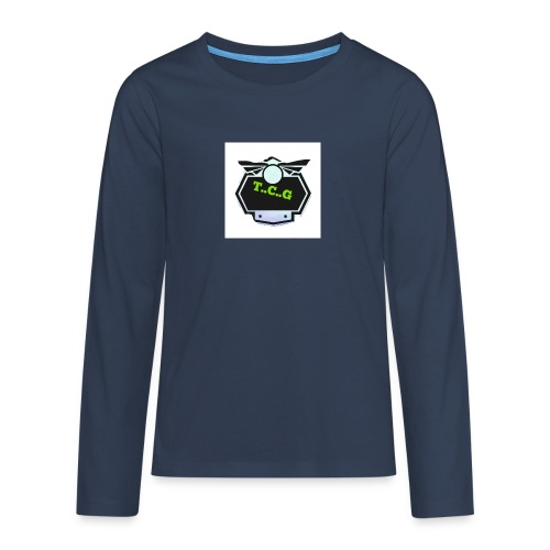 Cool gamer logo - Teenagers' Premium Longsleeve Shirt