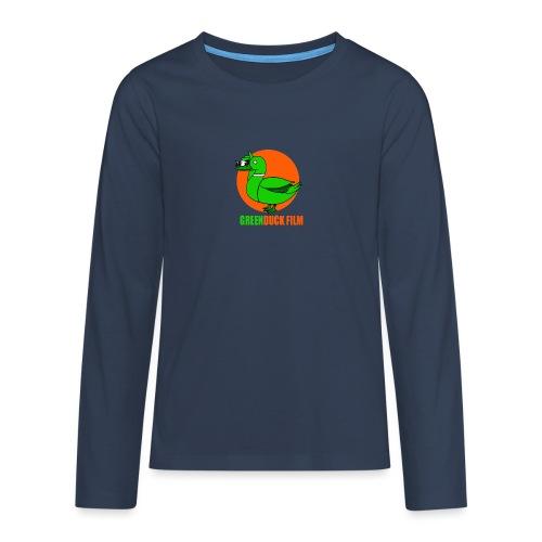 Greenduck Film Orange Sun Logo - Teenager premium T-shirt med lange ærmer