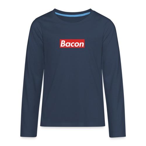 Bacon - Långärmad premium T-shirt tonåring