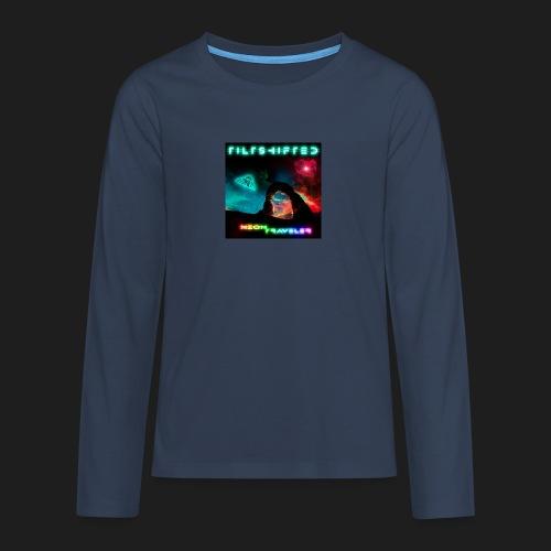 TiltShifted - Neon Traveler - Teinien premium pitkähihainen t-paita