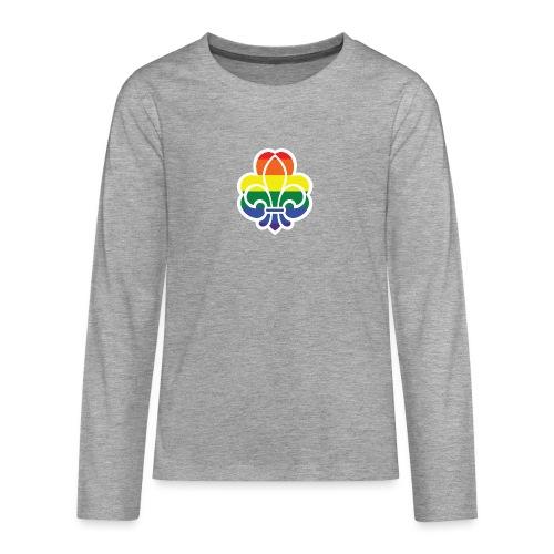 Regnbuespejder jakker og t-shirts mv - Teenager premium T-shirt med lange ærmer