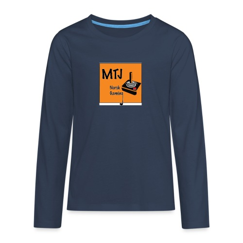 Mtj Logo - Premium langermet T-skjorte for tenåringer