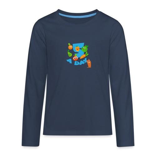 Duna five a day - Premium langermet T-skjorte for tenåringer