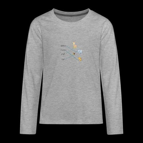 animaux de la savane. - T-shirt manches longues Premium Ado