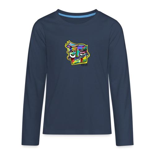 Rilla colour face - Teenager Premium shirt met lange mouwen