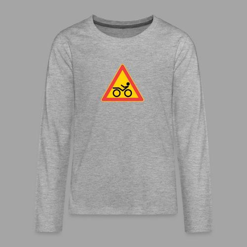 Traffic sign Recumbent - Teinien premium pitkähihainen t-paita