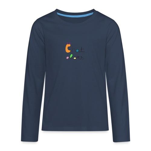 Chat Alors - T-shirt manches longues Premium Ado