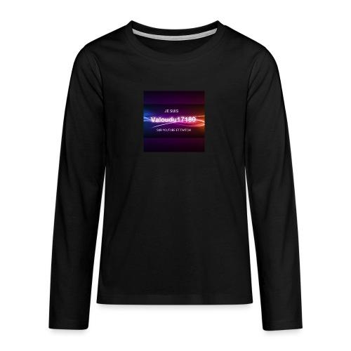 Valoudu17180twitch - T-shirt manches longues Premium Ado