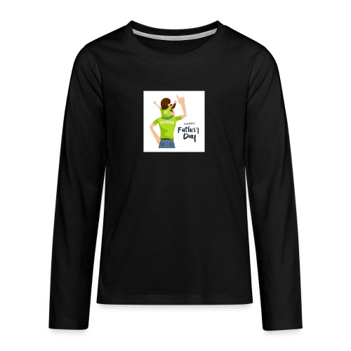Pngtree precious happy moment with superdad 35709 - T-shirt manches longues Premium Ado