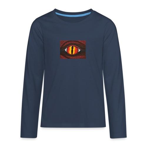 rotes Drachenauge - Teenager Premium Langarmshirt