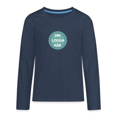 Egen Logga - Långärmad premium T-shirt tonåring