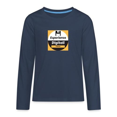 Logo Esperienze Digitali - Maglietta Premium a manica lunga per teenager