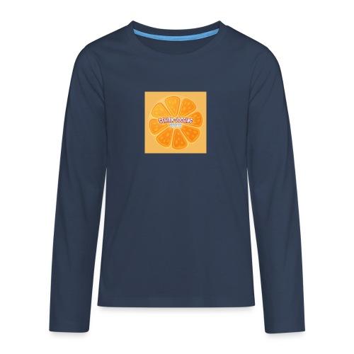orangetextur - Teenager Premium Langarmshirt