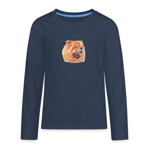 chow chow - Teenager premium T-shirt med lange ærmer
