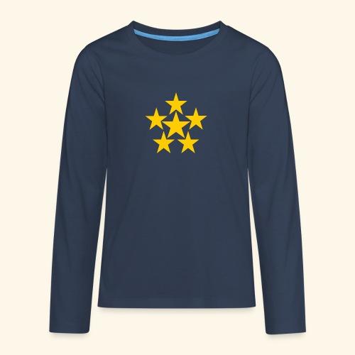 5 STERN gelb - Teenager Premium Langarmshirt