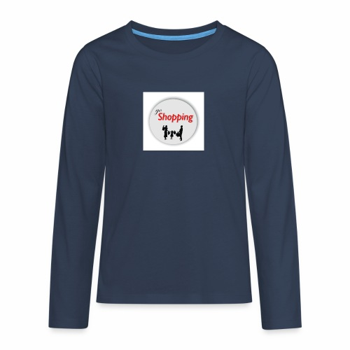 logo go shopping - Camiseta de manga larga premium adolescente