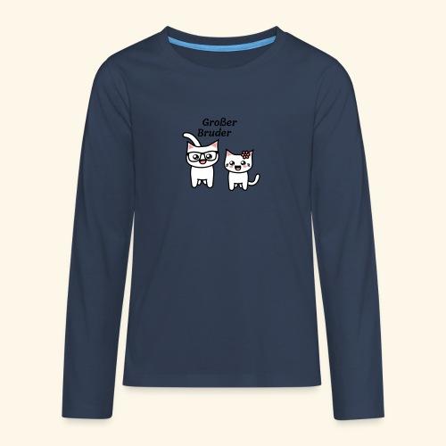 Großer Bruder - Teenager Premium Langarmshirt