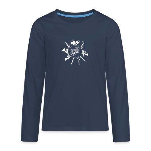 Instrumentenkreis_4000_ws - Teenager Premium Langarmshirt
