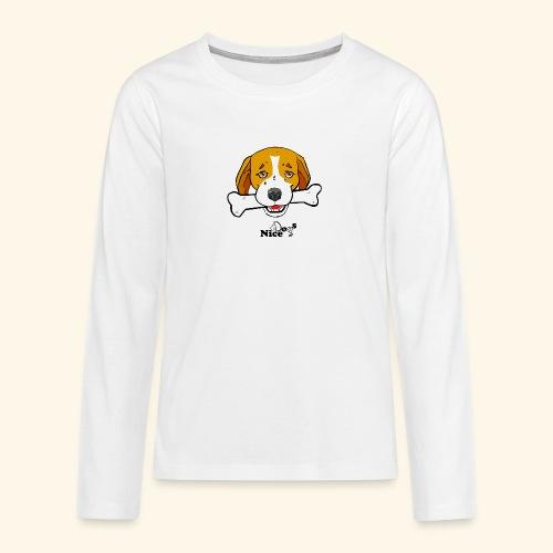 Nice Dogs Semolino - Maglietta Premium a manica lunga per teenager