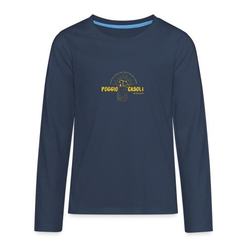 Poggio Casoli_Istituzionale_Giallo - Maglietta Premium a manica lunga per teenager