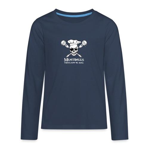 Meatballs - tinte scure - Maglietta Premium a manica lunga per teenager