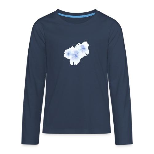 blue flowers - Koszulka Premium z długim rękawem dla nastolatków