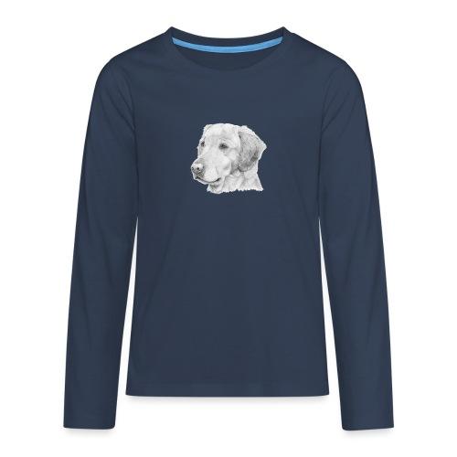 Golden retriever 2 - Teenager premium T-shirt med lange ærmer