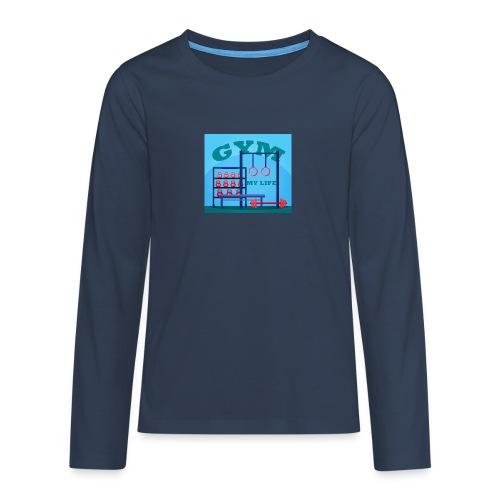 GYM - Teinien premium pitkähihainen t-paita