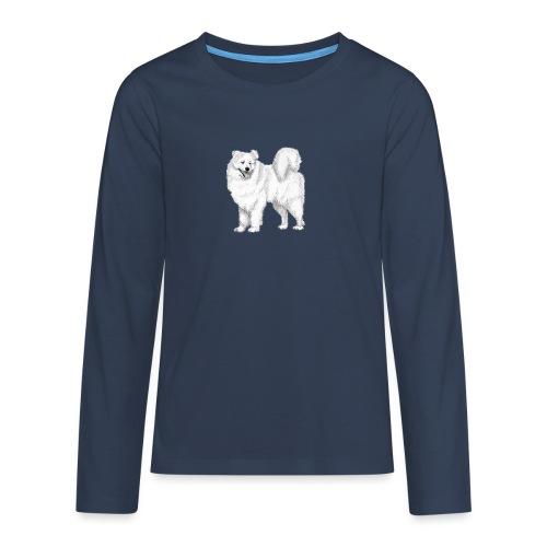 samoyed - Teenager premium T-shirt med lange ærmer