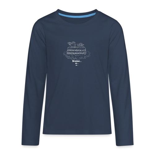 Tiramisù - tinte scure - Maglietta Premium a manica lunga per teenager