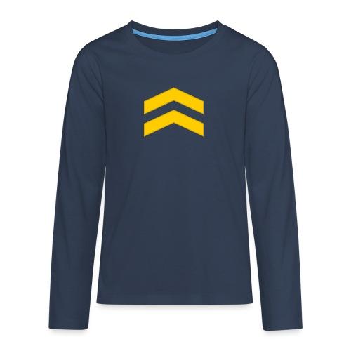 Alikersantti - Teinien premium pitkähihainen t-paita