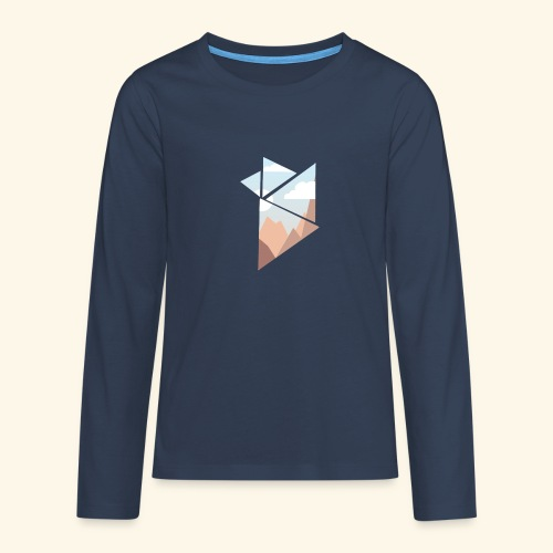 shattered - Långärmad premium T-shirt tonåring