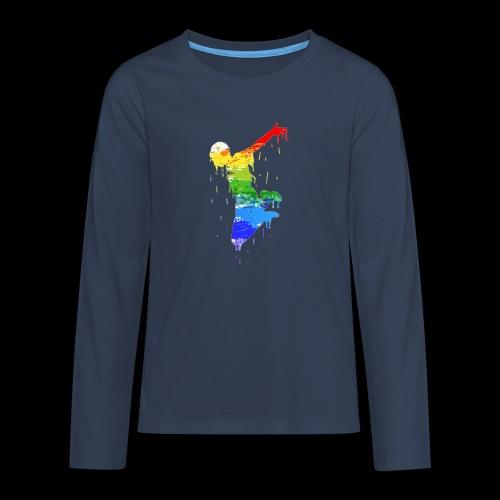 jump design paint - Teenagers' Premium Longsleeve Shirt