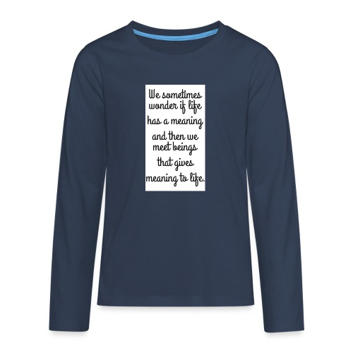 Phrase d'amour en anglais - T-shirt manches longues Premium Ado
