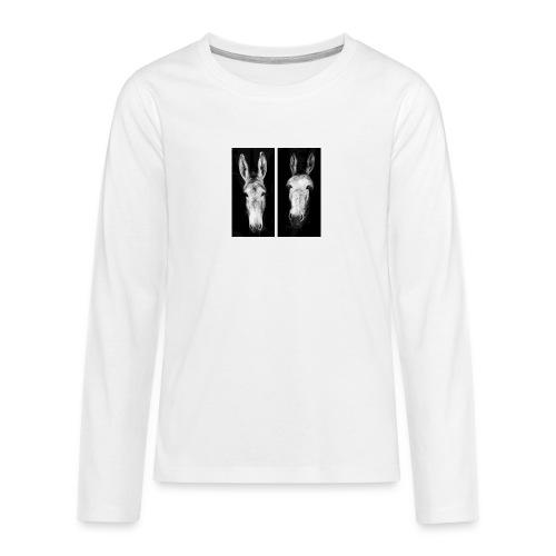 Eselköpfe-Esel - Teenager Premium Langarmshirt