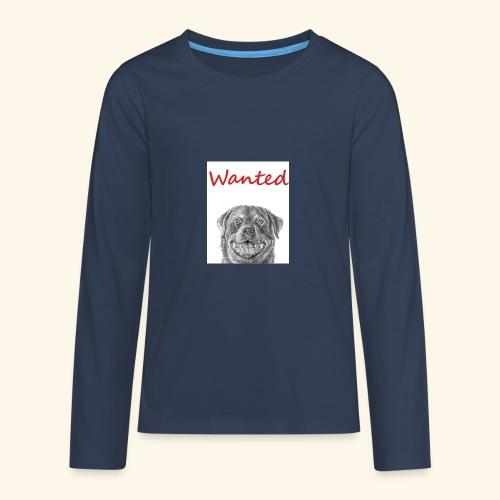 WANTED Rottweiler - Teenagers' Premium Longsleeve Shirt