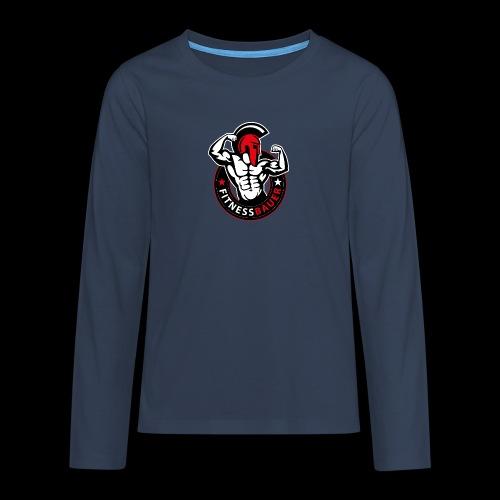 FitnessBauer in Rot - Teenager Premium Langarmshirt