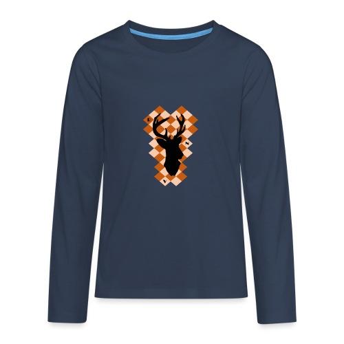 DeerSquare - Teinien premium pitkähihainen t-paita