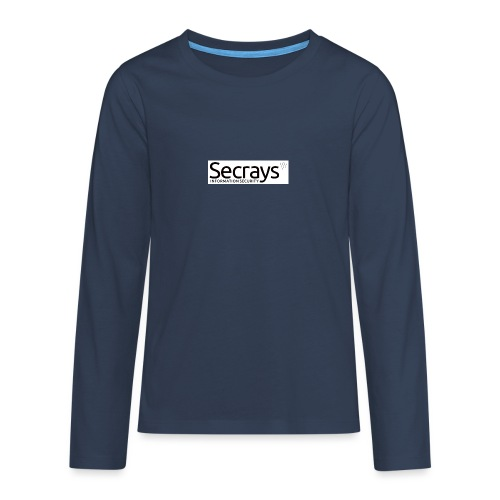 logo musta teksti - Teinien premium pitkähihainen t-paita