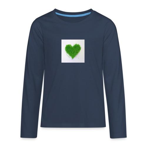 Herzrasen Button - Teenager Premium Langarmshirt